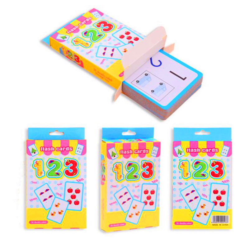36pcs Baby Learning Math Book Cards Mathematics Early Educational Picture Toys