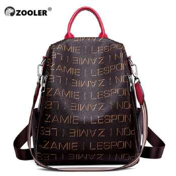 ZOOLER Brand Waterproof Women\'s PVC leather backpack Stylish Backpack Ladies totally PVC Female Girl Travel Bags bolso#HS235 - DISCOUNT ITEM  55 OFF Luggage & Bags