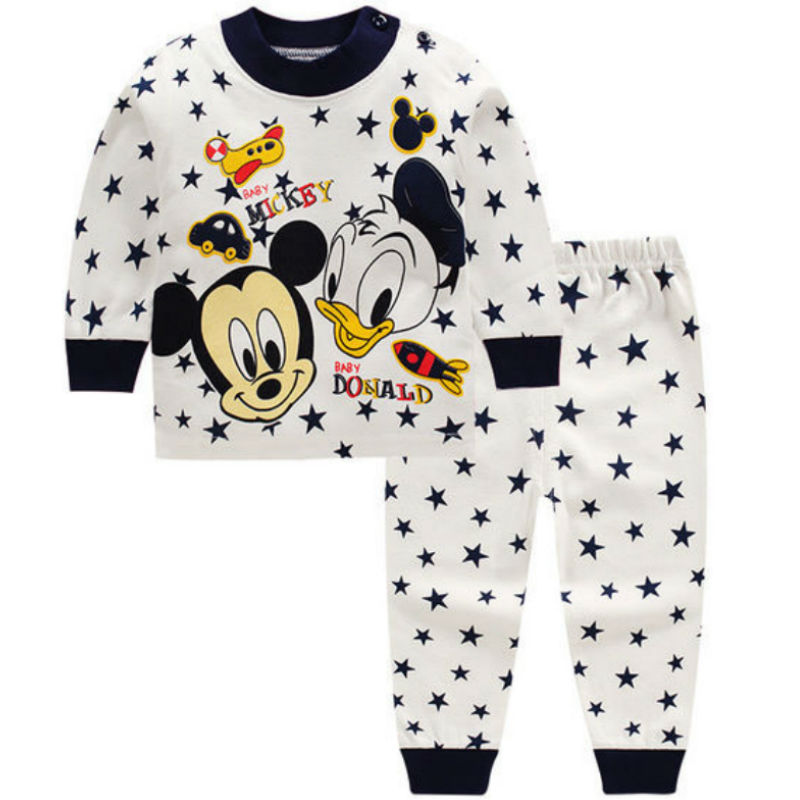 0-2year תינוק בגדי סט חורף כותנה יילוד תינוק בני בנות בגדי 2PCS תינוק פיג 'מה יוניסקס ילדים בגדי סטים