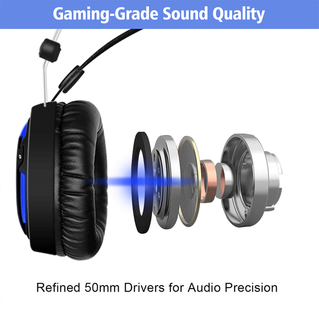 ALWUP A6 Gaming Headphones for Computer PC Games 2