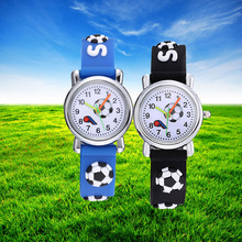 3D Football Silicone Kids Watches Cool Design Cartoon Ball C