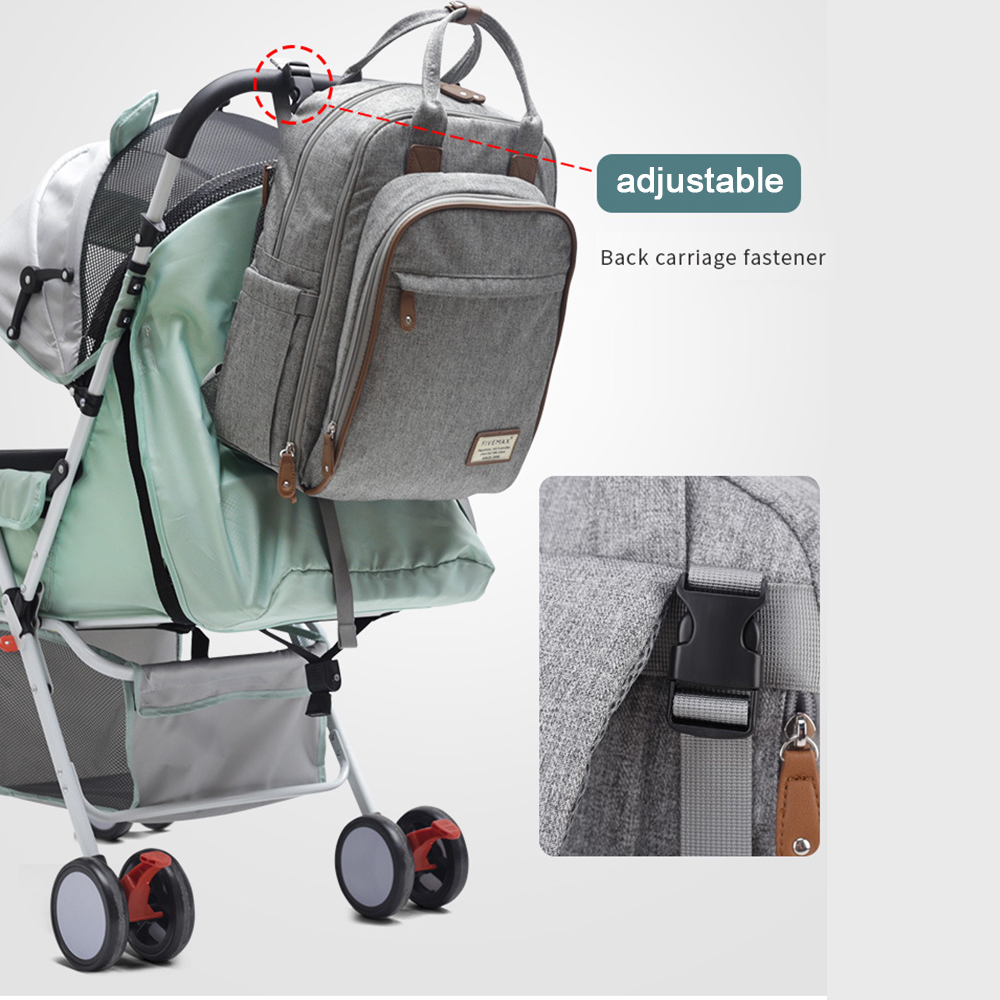 Fashion Mummy Maternity Bag Multi-function Diaper Bag Backpack Nappy Baby Bag With Stroller Straps For Baby Care Stroller Bag