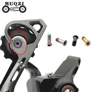 MUQZI 2pcs Bicycle M5 Rear Derailleur Guide Wheel Screw Titanium Alloy Tension Wheel Fixed Bolt Mountain Road Folding(China)