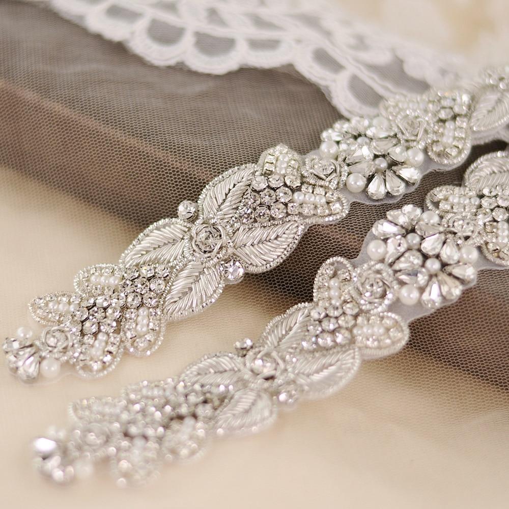 TRiXY S370 Gorgeous Royal Medal Craft Wedding Sash Wedding Accessories Bridal Sash Bridal Evening Dress Belt Rhinestone Belt