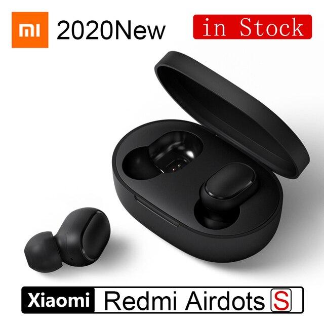 2020 Новинка Xiaomi Redmi AirDots S TWS беспроводные наушники Bluetooth 5,0 гарнитура Авто ссылка режим игры наушники левый и правый режим низкого лага