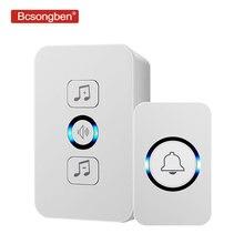 Bcsongben wireless waterproof doorbell 1 button 1 receiver 300M remote control s