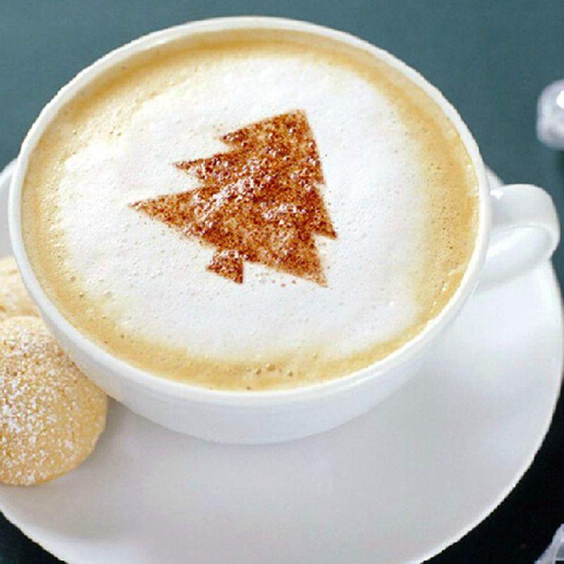Различные темы 16 шт трафареты для кофе, матовые прозрачные трафареты для украшения кофе трафареты для латте капучино кофе Fo