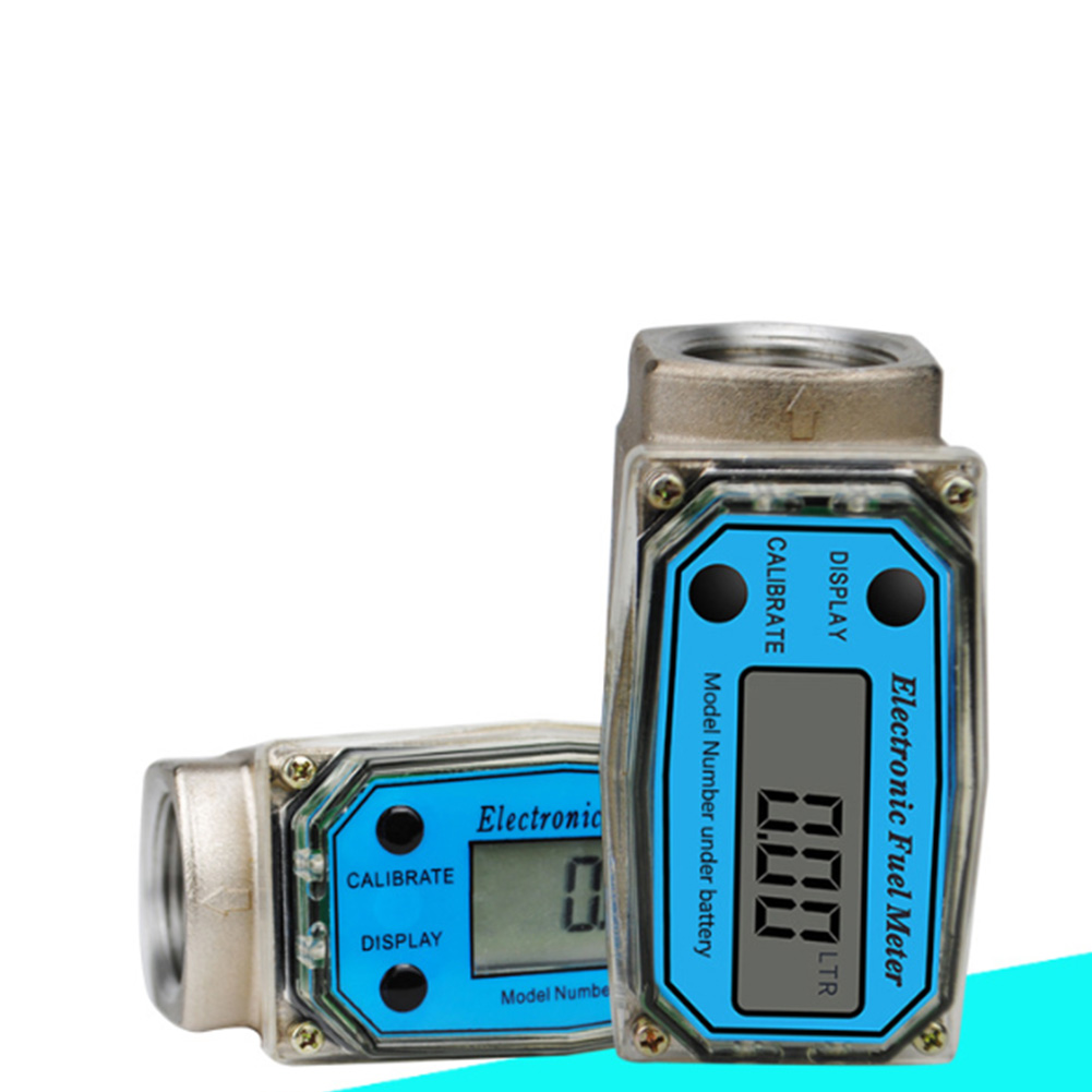 K24 Fuel High Accuracy Adjustable Electronic Flow Meter Digital Display Aluminum Alloy Tools Lightweight Measuring Easy Operate