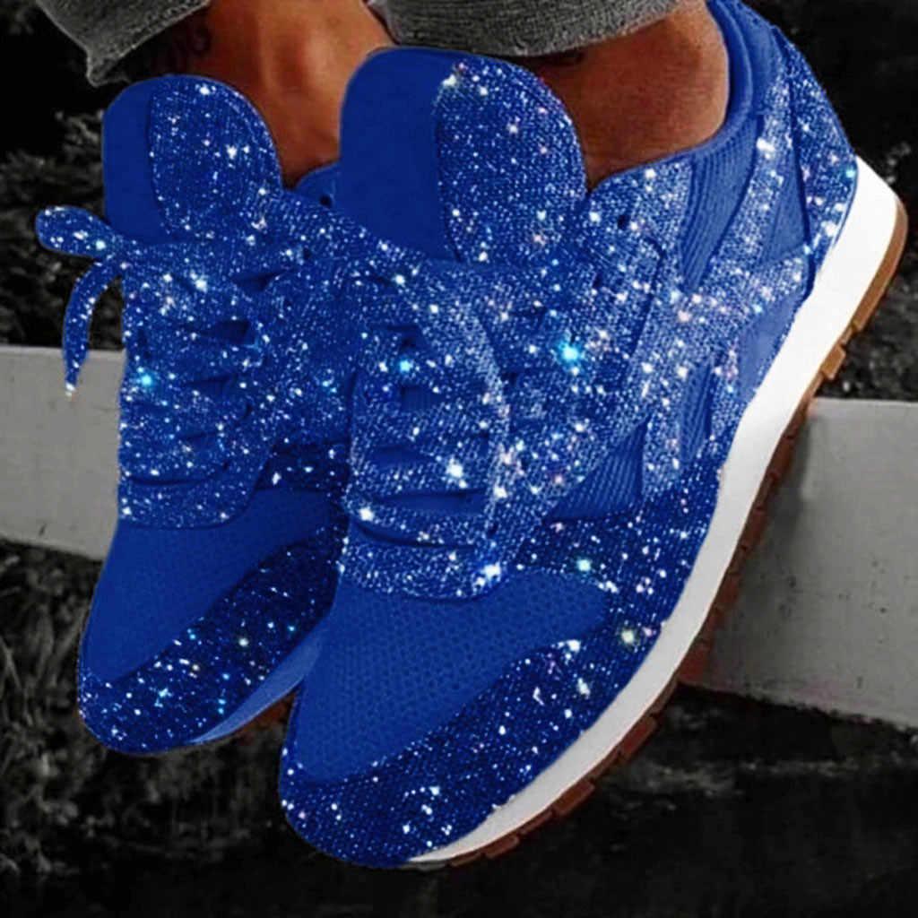 Kış ayakkabı kadın moda rahat nefes kristal Bling Lace Up spor ayakkabılar platformu Sneakers isıtıcı yürüyüş kar botları