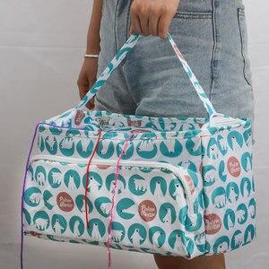 Image 4 - Looen 11 スタイル糸ニットdiyの針芸術クラフトホルダートートオーガナイザー収納かぎ針バッグ空の正方形の収納バッグ