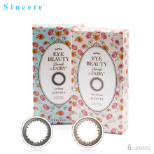 Sincere vision Brand EYE BEAUTY 2week colored contact lenses for eyes lens vision correction health care 6lenses/pieces