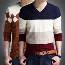 2017 listrado homem pulôver suéteres masculino casual cashmere camisola de natal malhas plus size algodão camisa masculina 4xl