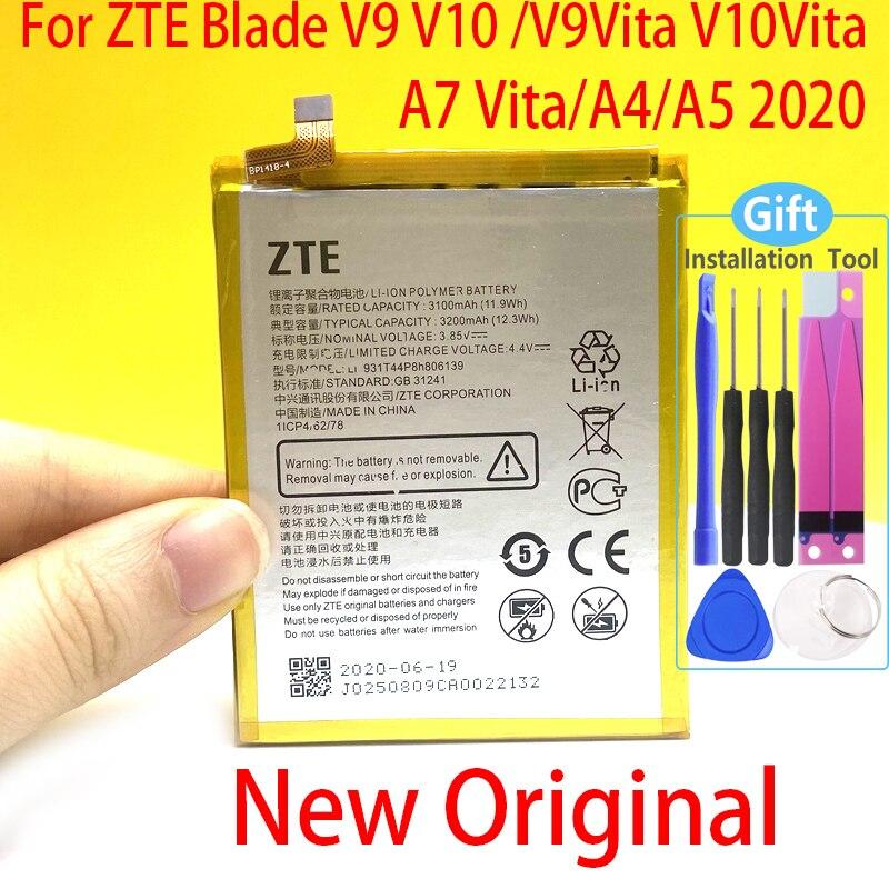 オリジナル3200バッテリーzteブレードV9 V10 V9Vita V10Vita A7ヴィータA4 A5 2020 Li3931T44P8h806139電話高品質バッテリー