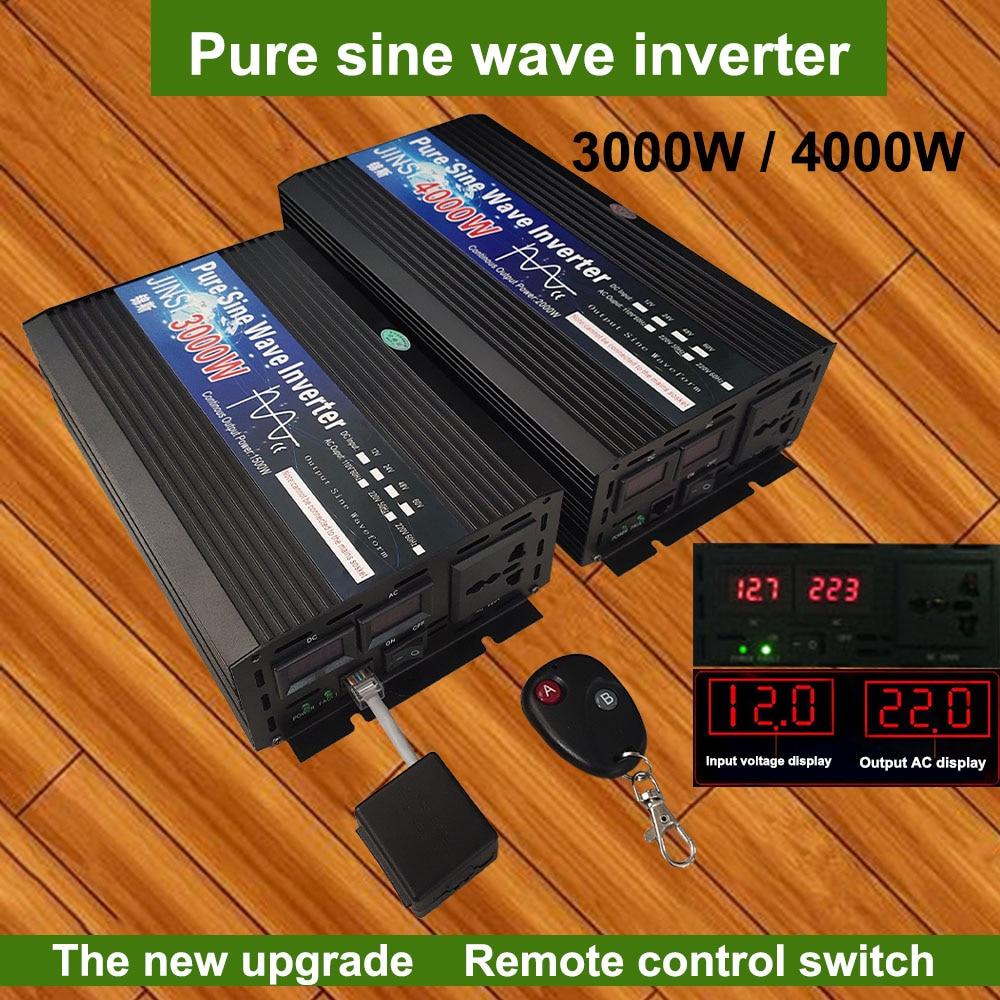 Инвертор немодулированного синусоидального сигнала, 12 В, 24 В, 48 В, 60 в, 220 В, 3000 Вт, 4000 Вт, инвертор солнечной энергии с напряжением 12 В, 220 В, прео...