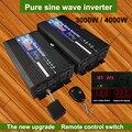 Reine Sinus-wechselrichter 12V 24V 48V 60V 220V 3000w 4000w Spannung Solar power Inverter 12V 220V Konverter Mit Fernbedienung DIY