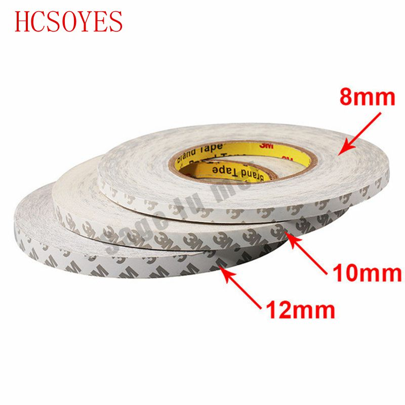 50M/Roll 8mm 10mm 12mm 3M Adhesive Tape Double Sided Tape For Ws2801 3528 5050 Ws2811 Led Strips