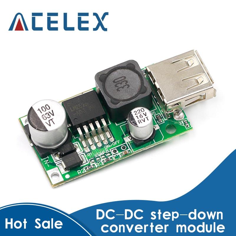 LM2596HV 5V DC-DC abaisseur Buck Module de carte convertisseur 9V 12V 24V 36V 48V à 5V 3A USB chargeur Module