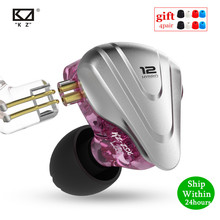KZ Hybrydowy zestaw słuchawkowy KZ ZSX ZS10 PRO AS12 AS16 ZSN PRO C12 DM7, z odłączanym kablem, 5BA+1DD, 12 elementowy, słuchawki douszne, HiFi, metalowe, do słuchania muzyki i uprawiania sportu