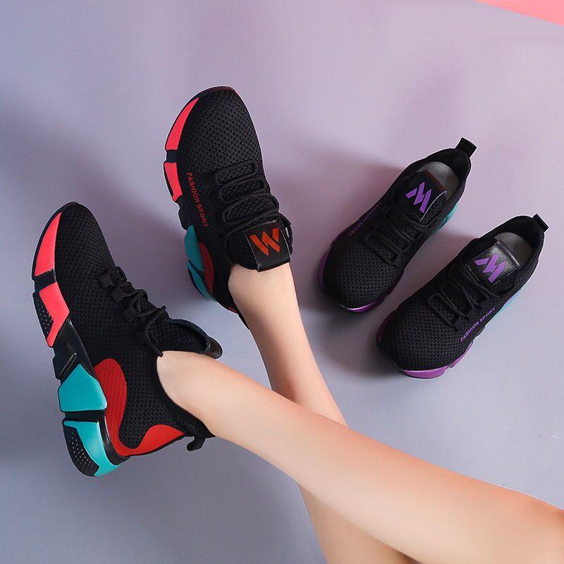 Women Casual Shoes Fashion Breathable Walking Air Mesh Flat Shoes Woman White Sneakers Women 2020 Tenis Feminino Gym Shoes Sport