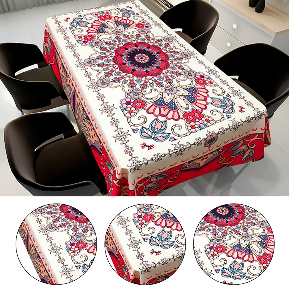 Mandala Tablecloths Polyester Table Runners and Tablecloths Party Table Cloths for Events Home Decor Table Cover Waterproof(China)