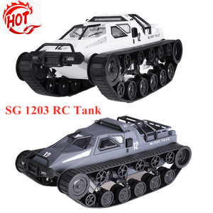 SG 1203 RC Car 2.4G 12km/h Drifting RC Tank Car High Speed Full Proportional Crawler Radio Control Vehicle RC Toy For Kids Gifts(China)