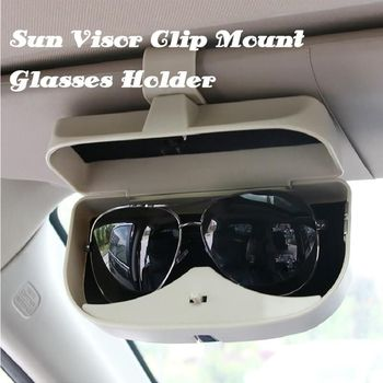 Universal Car Visor Sunglasses Case Car Sun Visor Glasses Holder Organizer Sunglasses-Holder Storage-Box Sunshade Multifunctiona недорого