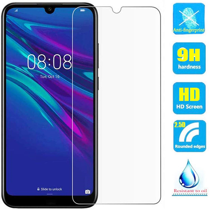 2Pcs Tempered Glass For Huawei Y5 Y6 Y7 Prime Pro Y9 2019 Glass Screen Protector On For Huawei P Smart Z 2019 Protective Film
