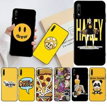 HPCHCJHM justin bieber drew house brand Cover Black Soft Shell Phone Case for Huawei Honor 30 20 10 9 8 8x 8c v30 Lite view pro hpchcjhm caravaggio the soul and the blood phone case cover shell for huawei honor 30 20 10 9 8 8x 8c v30 lite view pro