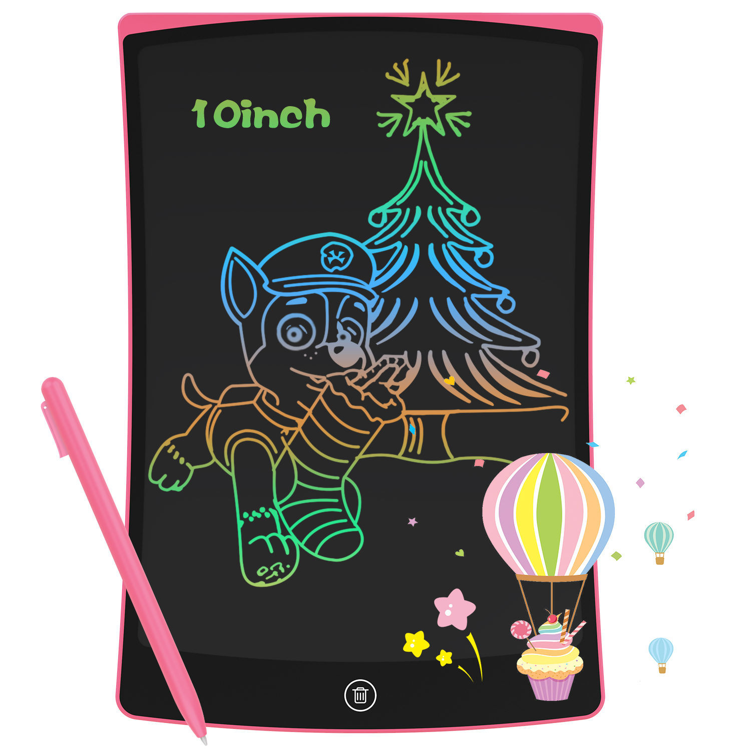 NEWYES Electronic LCD Writing Tablet 10 Inch Digital Drawing Board Colourful Handwriting Pad Children Graphic With Pen Kids Gift