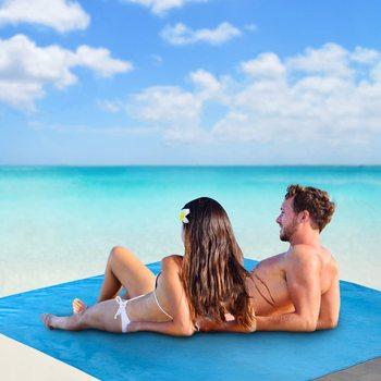 Wakacyjny ręcznik plażowy koc piknikowy wodoodporna mata plażowa bez piasku koc przenośny ręcznik plażowy Camping koc plażowy tanie i dobre opinie CN (pochodzenie) Beach Towel Bez wzorków wyszywana można prać w pralce W stylu rysunkowym mikrofibra