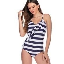2019 Halter Tankini Swimsuit Women Plus Size Swimwear Deep V Retro Floral Swimming Suit maillot de bain femme tankini