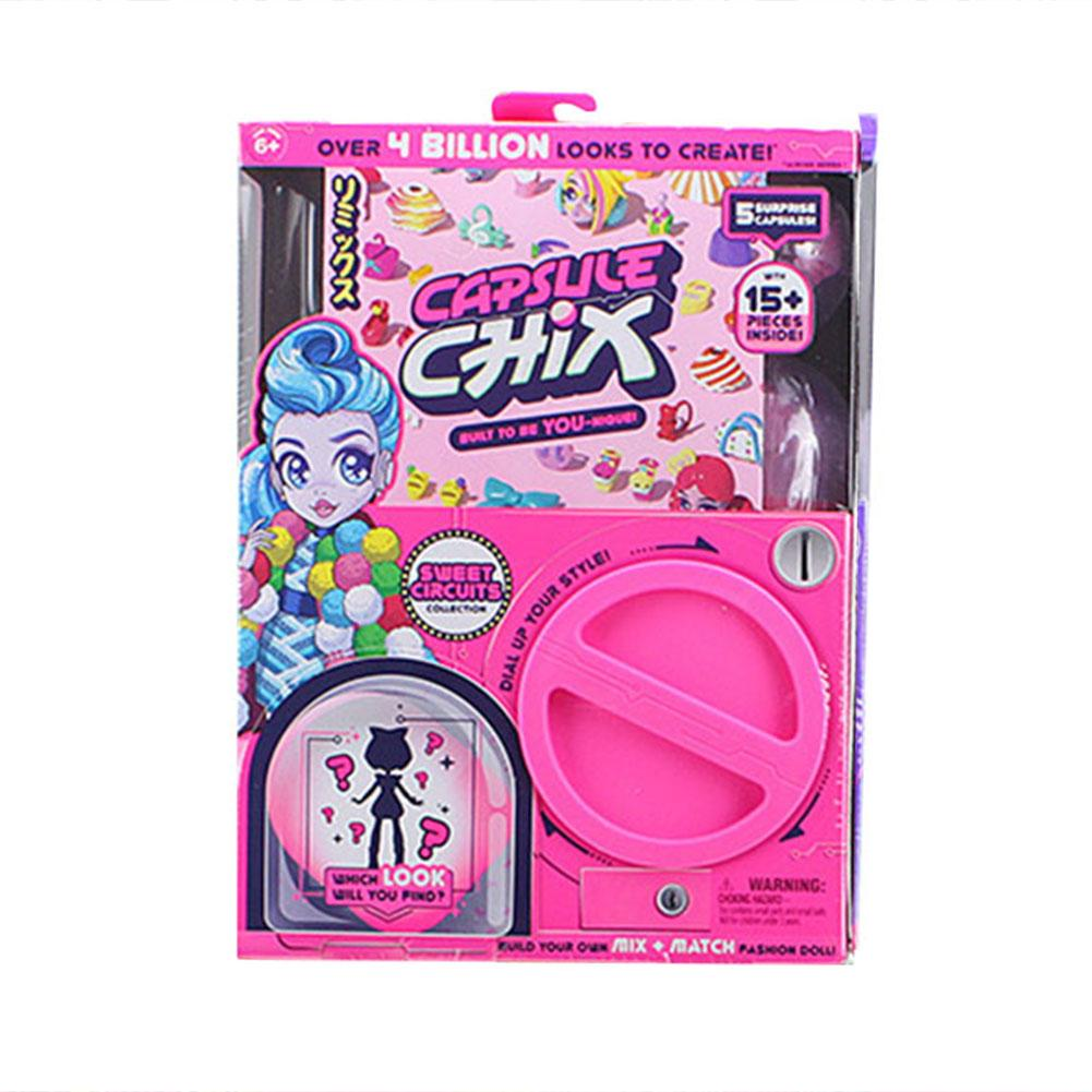 Capsule Twist Machine Toys Capsule Chix Collectible Surprise Doll Assembly With Unboxing Mix Match Accessories