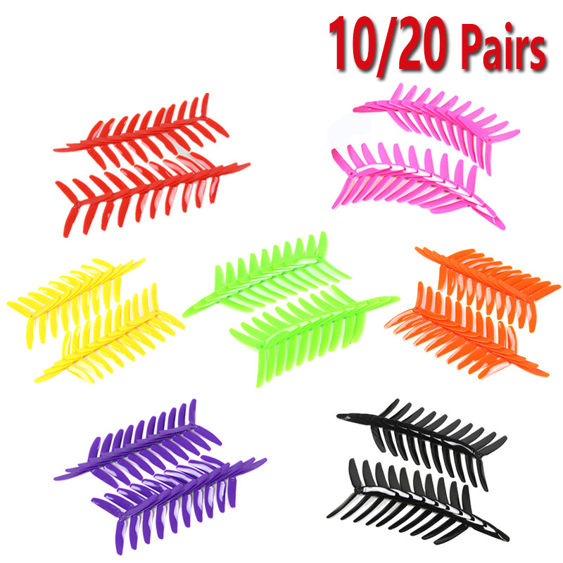 New Arrival 10 /20 Pairs Kingkong 5040 5x4x3 3-Blade Single Color CW CCW Propellers For FPV Racer RC Multicopter Spare Parts