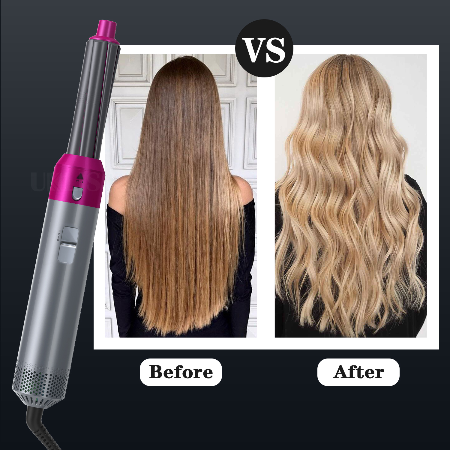 5 In 1 One Step Hair Dryer & Volumizer Rotating Hairdryer Hair Straightener  Comb Curling Brush Hair Dryers For Hair Styling Tool|Hot-Air Brushes| -  AliExpress