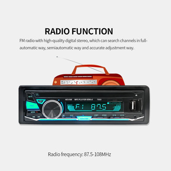 Universal 12V Bluetooth Car MP3 Player Detachable Panel Stereo Audio Player Remote Control USB FM Aux image