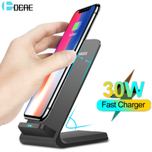 DCAE 30W Fast Wireless Charger Stand For iPhone 12 11 XS XR X 8 Samsung S20 S10 Note 20 Qi Quick Induction Charging Dock Station