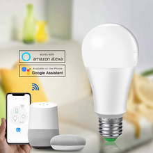 15W Led Wifi Bulb Ampoule Intelligente E27 1800LM LED Smart Home Lighting Bulb Alexa/Google Home Assistant ISO/Android Support(China)