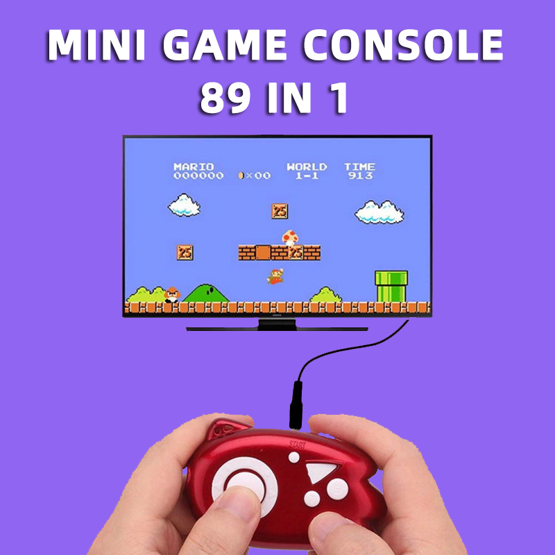 Super Retro Mini 8 Bit Video Game Console Boy Portable Plug Play Tv 89 In 1 Player Classic Pocket Handheld Gaming Console Kid FC