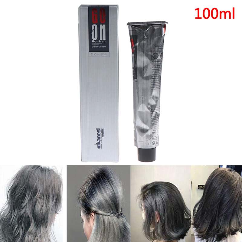 100ML Unisex DIY Grandmother Color Hair Cream Permanent Dye Light Gray Silver image