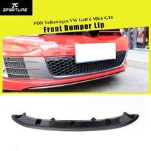 Передний бампер автомобиля Спойлер разветвители фартуки для Volkswagen VW Golf 6 MK6 GTI 2010 2011 2012 2013 углеродное волокно/FRP черный