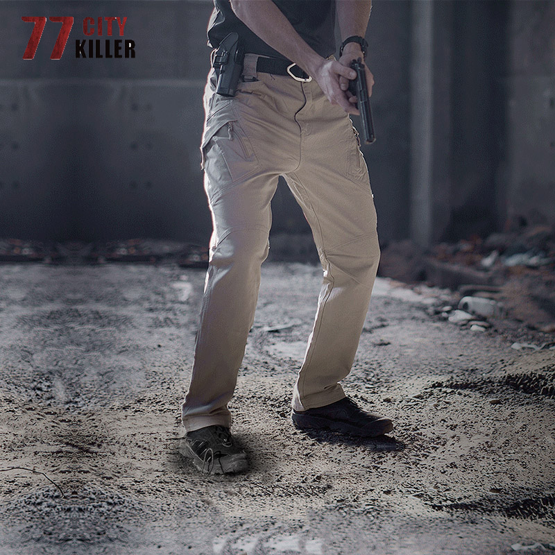 77City Killer Tactical Pants Men Army Military IX9 Combat Trousers Casual Work Joggers SWAT Multi-pocket Men Pants Size S-5XL