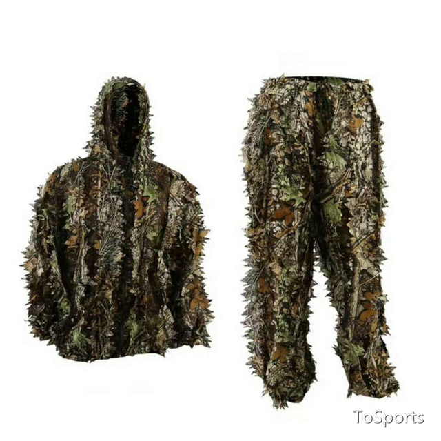 3D Leaf Camouflage Clothing Hunting Clothes New Bionic Suits Camouflage Clothing Jacket And Pants Polyester Oxford Fabric 5