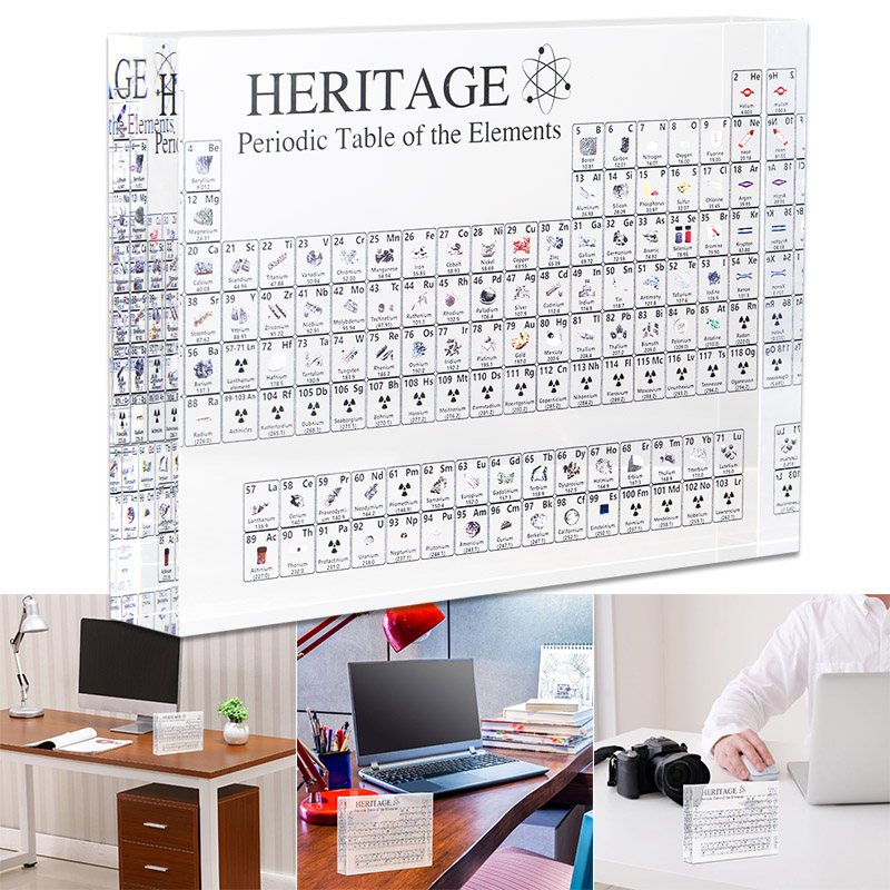 Elements Acrylic Periodic Table Display Kids Teaching School Day Birthday Gifts Chemical Element Display Card Home Decor MF999