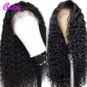 13x4 glueless remy onda de água peruca 13x6 transparente frente do laço perucas cabelo humano preplucked 360 perucas frontal do laço brasileiro 150