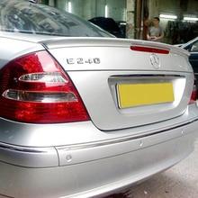 Спойлер для W211 2003-2006 Mercedes-Benz W211 YC E-class E200 E260, спойлер из АБС-пластика, заднее крыло, цветной задний спойлер