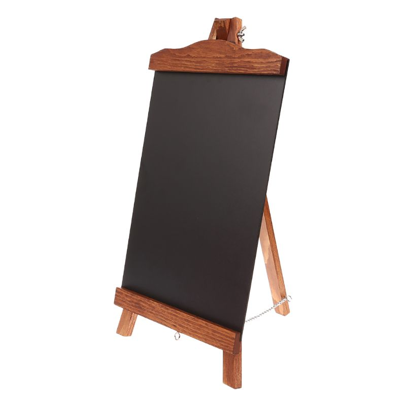 Wooden Vintage Desktop Memo Message Blackboard Easel Chalkboard Kids Writing Board Sign