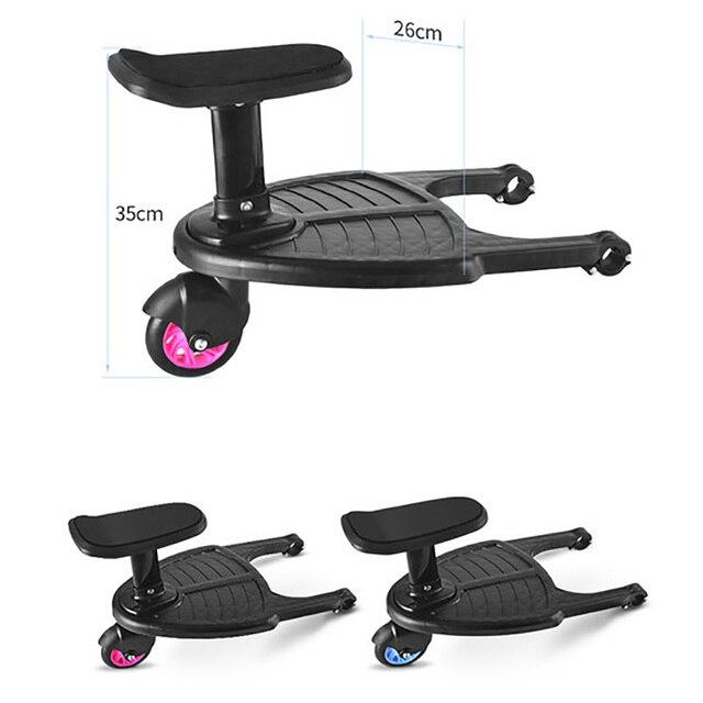 Adaptador de Pedal del cochecito para niños, remolque auxiliar para niños, gemelos, Scooter Hitchhiker, placa de pie para niños con asiento de moda