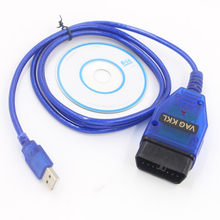 범용 USB 케이블 라인 좌석 진단 도구 VAG COM KKL 409.1 OBD2 USB 케이블 코드 리더 자동차 스캐너 자동 스타일링 인터페이스
