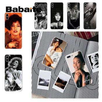 Babaite Whitney Houston Phone Case fundas for iPhone 12 8 7 6 6S Plus 5 5S SE XR 11 12 11pro promax X XS MAX cover soft coque image
