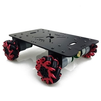 4Wd Smart Robot Car Chassis with 4Pcs 60Mm Mecanum Wheels 12V High Torque Motor for Arduino